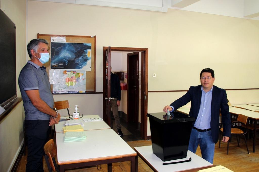 Jorge Machado Votou no Antigo Liceu