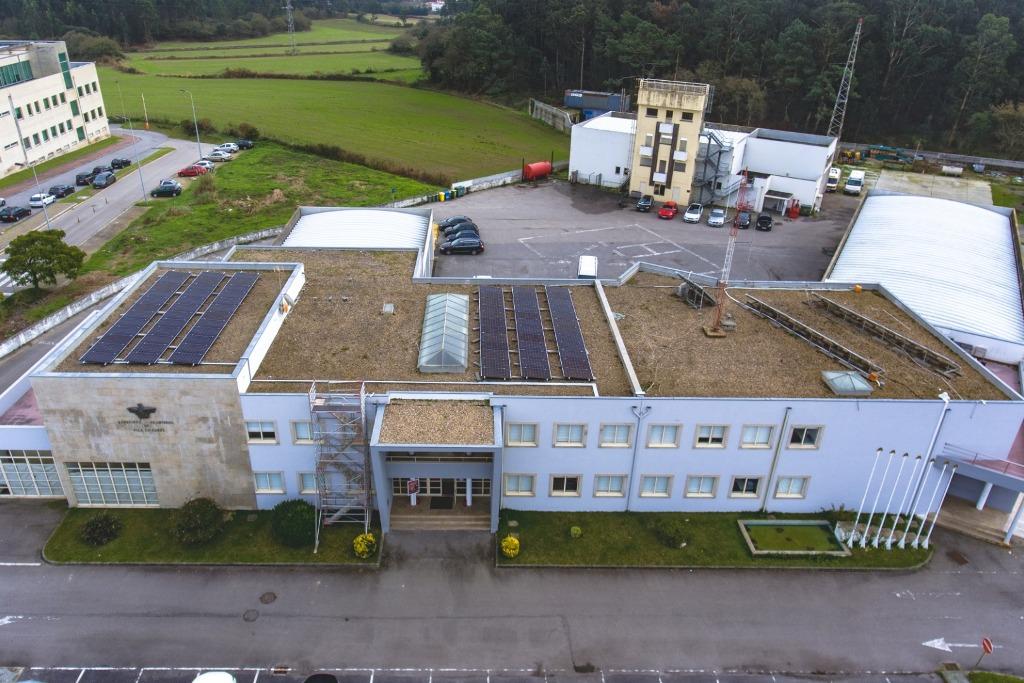 Painéis fotovoltaicos no Quartel do Bombeiros de Vila do Conde