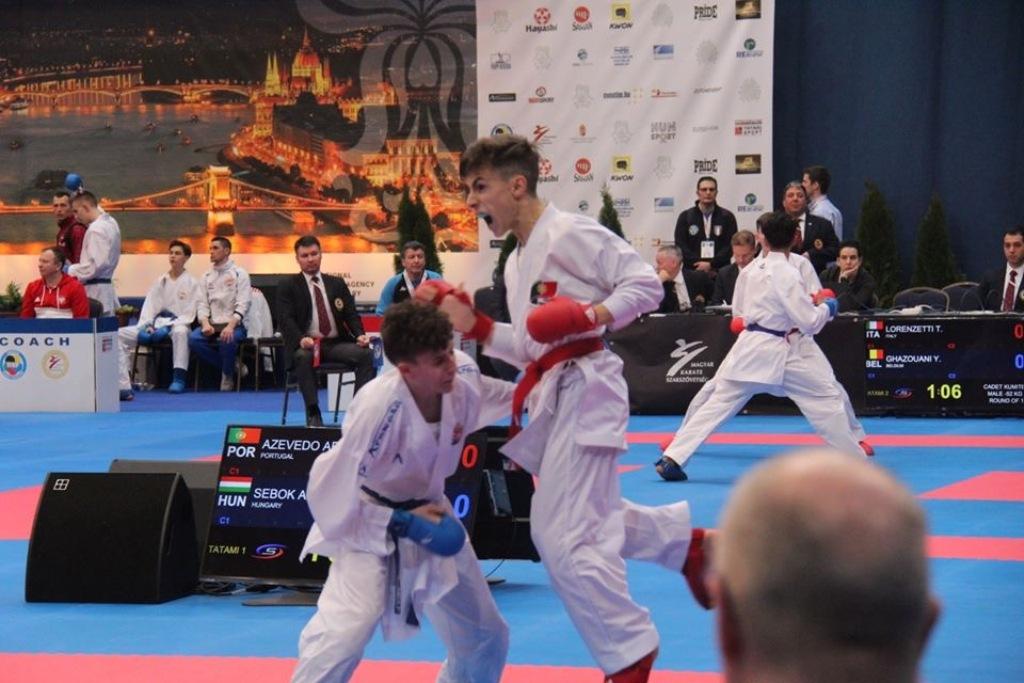 Afonso Azevedo não foi feliz no Europeu de Karate