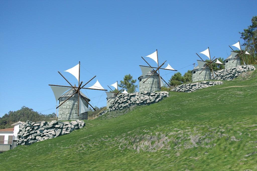 Primeira fase da obra do Parque temático dos Moinhos da Abelheira