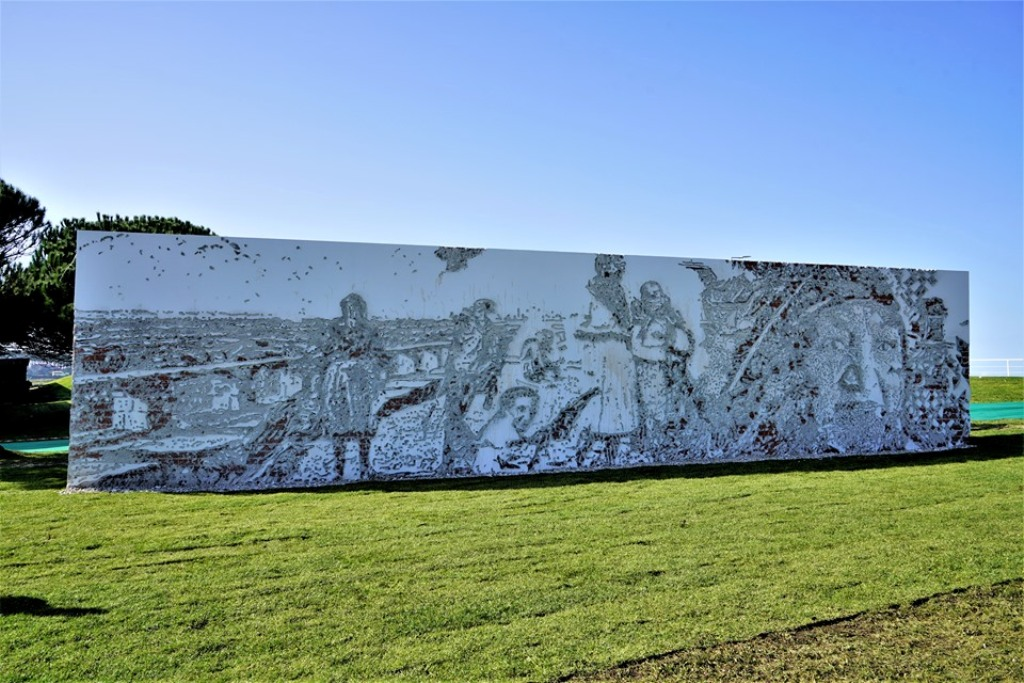 Obra de Arte de Vhils Perpetua as Gentes do Mar