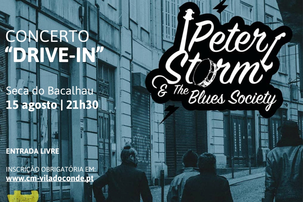 Peter Storm & The Blues Society no Drive-In da Seca do Bacalhau