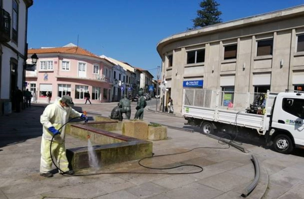 Câmara de Vila do Conde Alarga Medidas de Desinfecção na Via pública