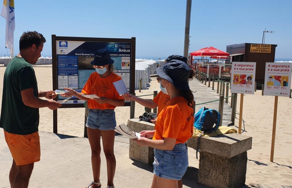 Município de sensibiliza para as regras de saúde e segurança nas praias