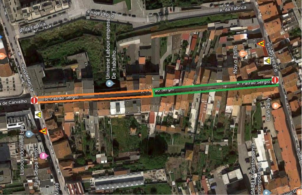Requalificação da Rua Patrão Sérgio Obriga a Cortes Temporários em Ruas Vizinhas