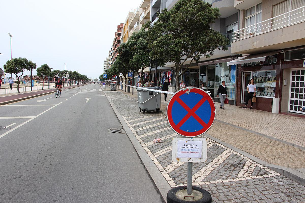 Avenida dos Banhos Encerra ao Transito no Fim-de-semana