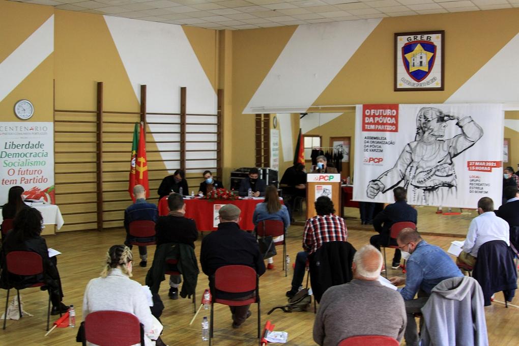 Assembleia da Organização da Póvoa de Varzim do PCP com um Bonfim