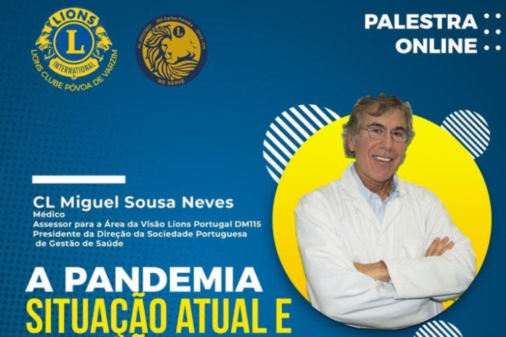 Lions Promovem Palestra A PANDEMIA: Situação atual e previsões futuras