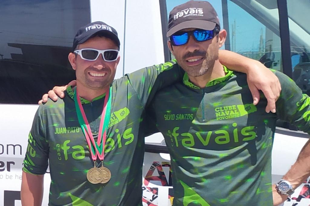 Sílvio Santos e Juan Pato no Mundial de Pesca em Barco Fundeado