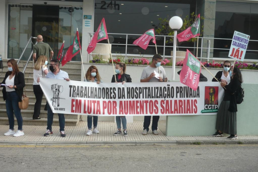 Trabalhadores da Hospitalização Privada Exigem Aumentos Salariais