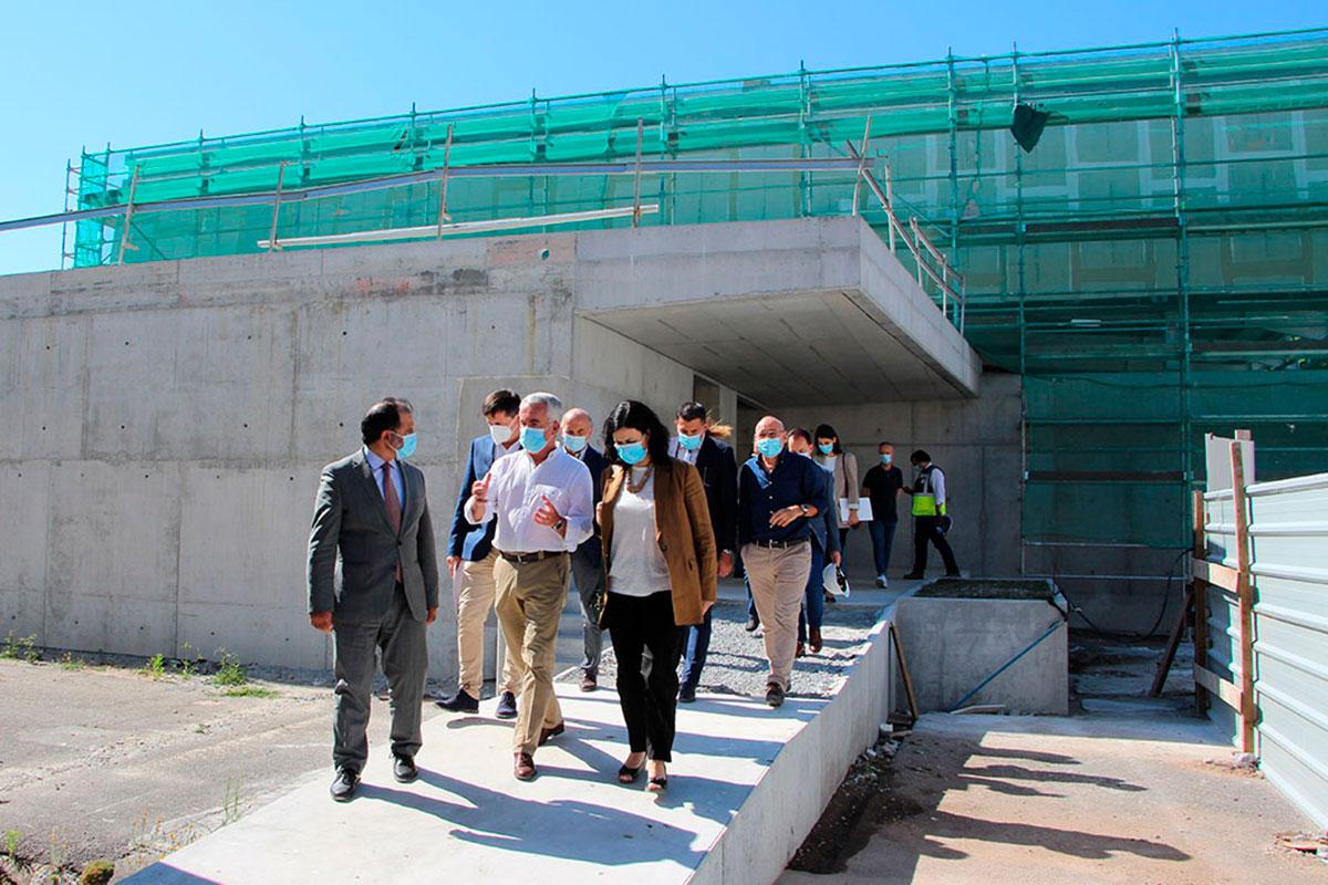 Inês Ramires Visitou Obras do Pavilhão Desportivo da ESEQ