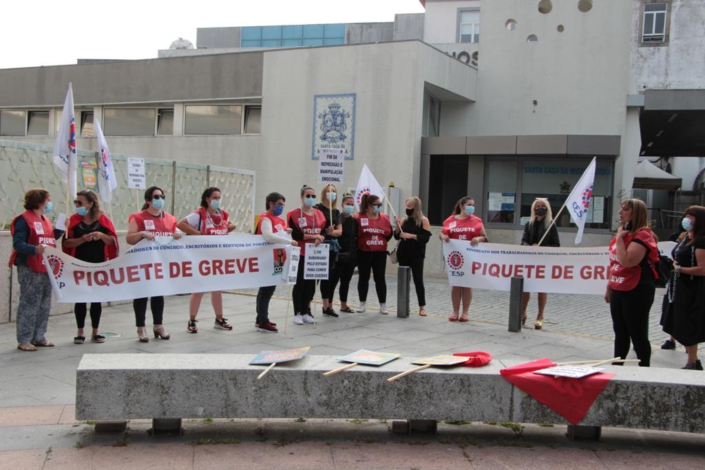 Trabalhadores da Misericórdia em Protesto