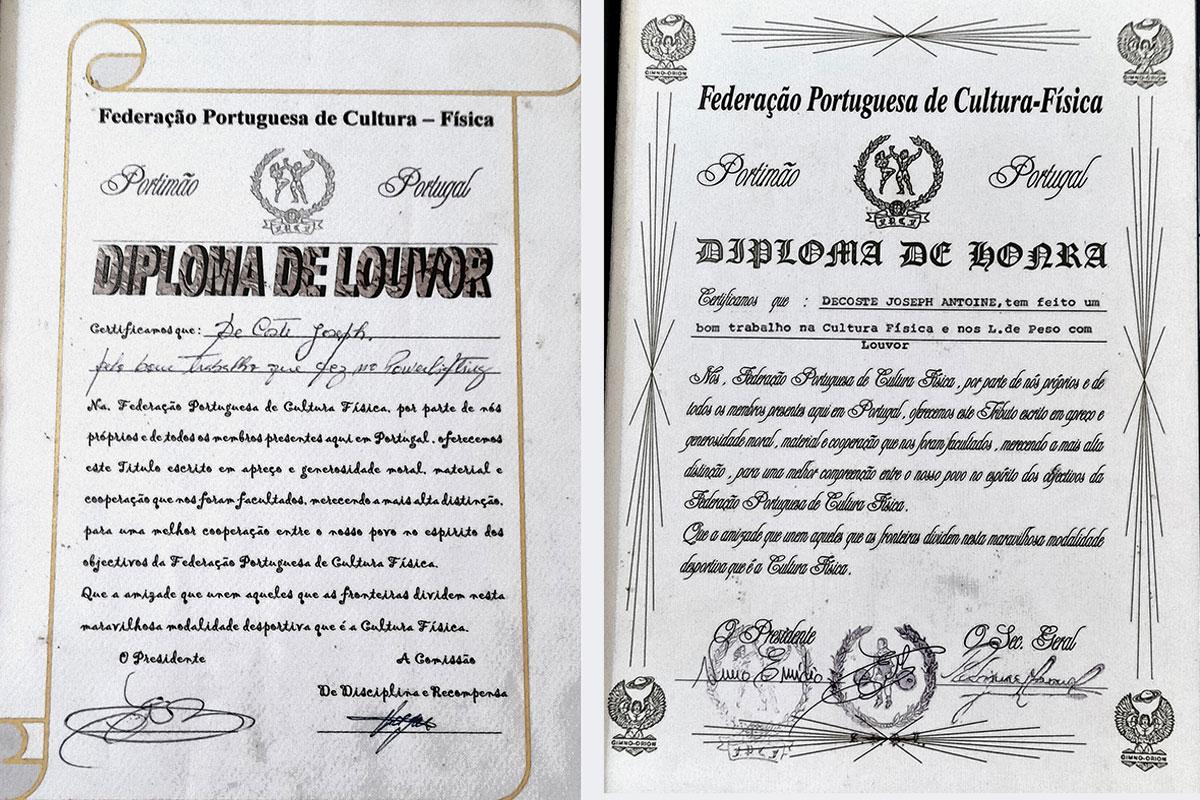 Um Legionário com Medalha de Mérito Desportivo