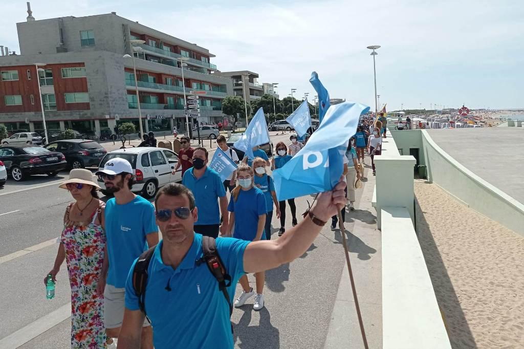 Liberais Numa Caminhada de Vila da Conde até à Póvoa de Varzim